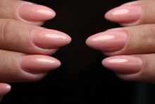 Manicure With Long Nails On A Trendy Texture