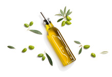 Olive Oil In Bottle And Fresh ...