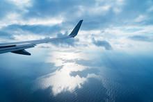 飛行機から見る風景