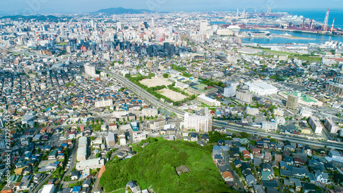 Fototapete - 街並み 北九州市