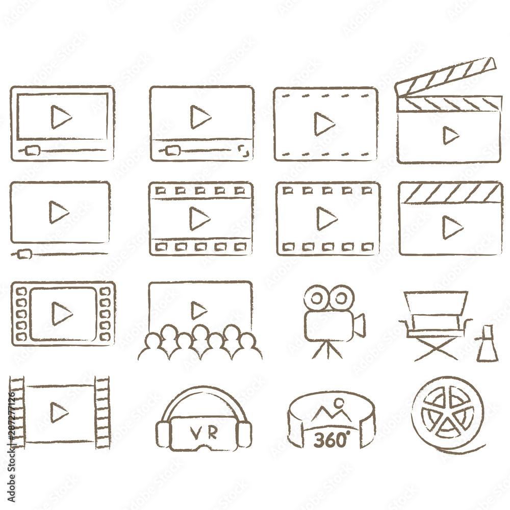 Fototapeta やさしい線画  動画アイコン