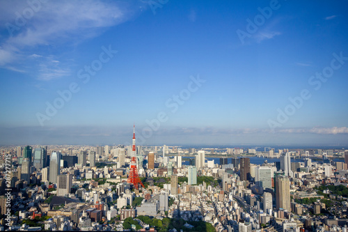 Fototapety, obrazy: Tokyo Tower and city center_01/東京タワーと都心の街並み_01