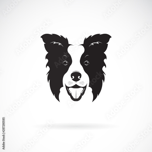 Vector of a border collie dog on white background. Pet. Animal. Dog logo or icon. Easy editable layered vector illustration. Wall mural