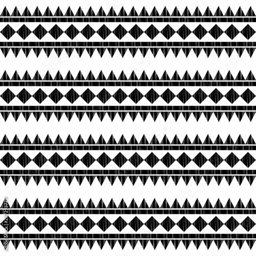 Ingelijste posters Boho Stijl Ethnic boho seamless pattern. Lace. Embroidery on fabric. Patchwork texture. Weaving. Traditional ornament. Tribal pattern. Folk motif. Can be used for wallpaper, textile, wrapping, web.