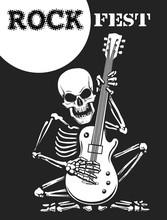 Skeleton Plays Guitar Rock Fes...