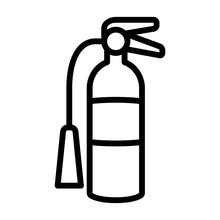 Fire Extinguisher Line Art Vector Icon For Apps And Websites