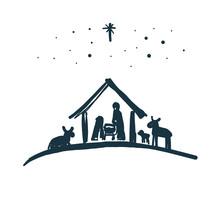 Drawing, Bible Merry Christmas...