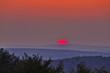canvas print picture - sonnenuntergang im erzgebirge