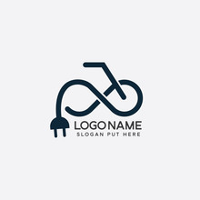 Infinity E-Bike Logo Design Template