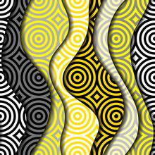 Yellow Geometric Pattern In A ...