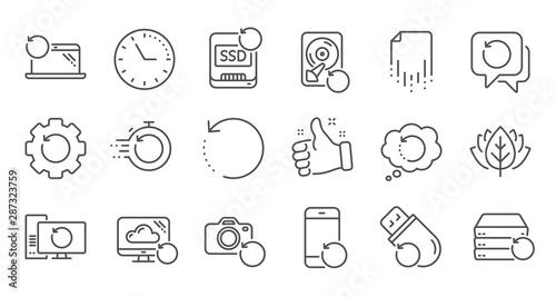 Fototapeta Recovery line icons