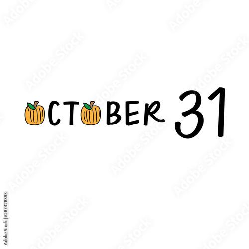 Fotografia  October 31 Halloween Pumpkins