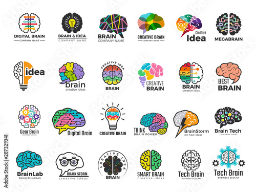 Brain logo Wallpaper Mural