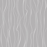 Wavy line pattern. White vertical wavy lines on gray background. Strips similar to threads. Hand drawn stripes. Hand painted improvised white lines against gray color. - 287330538