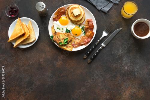 Full American Breakfast Wallpaper Mural