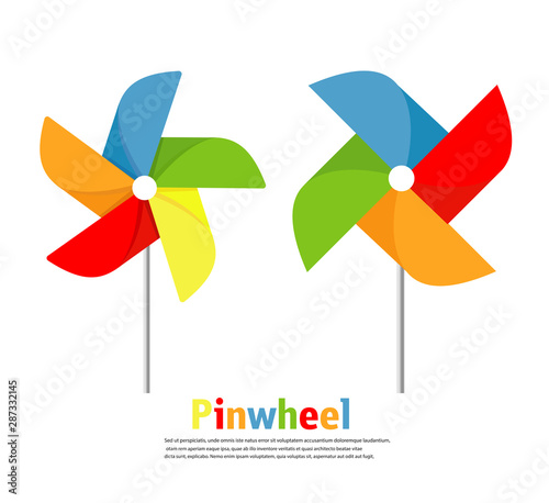 Valokuva Pinwheel icon vector set illustration
