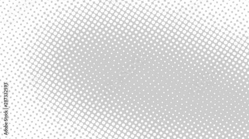 Cuadros en Lienzo  Light grey retro pop art background with halftone dots