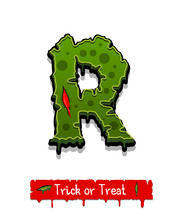 Halloween Green Color Comic Horror Zombie Font