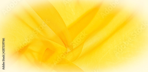 Fototapety, obrazy: Texture of yellow silk fabric. It is also perfect for your design, clothes, posters. Be creative with beautiful project accents. This fabric is inspired by your inspiration.