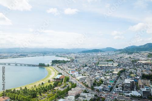 琵琶湖のある景色