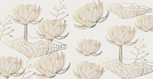 Lotus Pattern Vector Line Art....