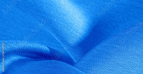 Background Pattern Texture Wallpaper Blue Silk Fabric