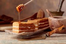 Homemade Layered Honey Cake.