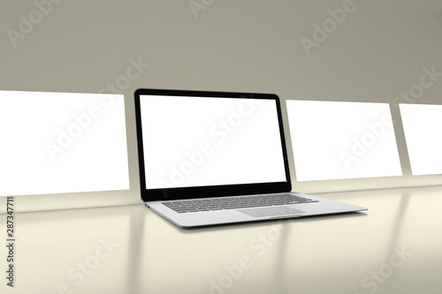 La pose en embrasure Fleur Isolated Devices Mockup