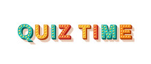 Quiz Time Flat Vector Lettering