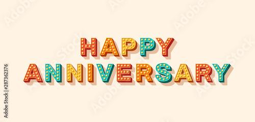 Papiers peints Positive Typography Happy anniversary vector lettering