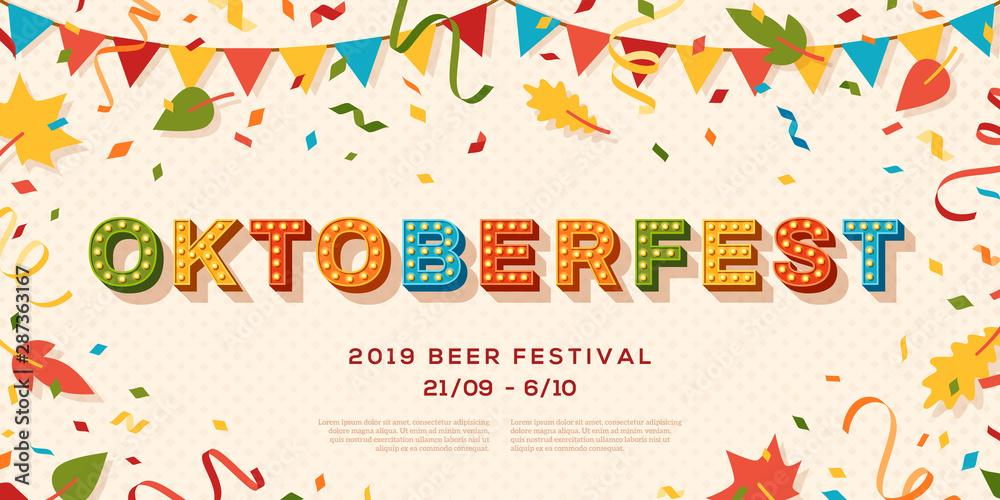 Fototapeta Oktoberfest banner vector template