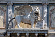 Lion Of Venice Sculpture On Scuola Grande Di San Marco