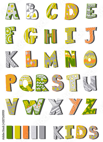alphabet printed letters for children by hand made