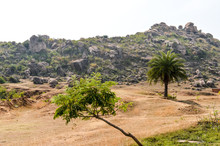 Landscape View Of Dry Hilly Ar...