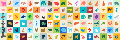 Animals logos collection. Animal logo set