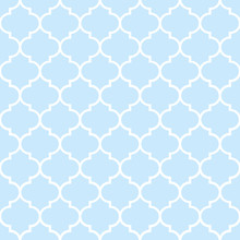 Blue Moroccan Tiles Seamless Pattern