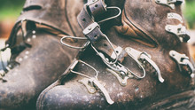 Vintage Brown Ski Leather Boots