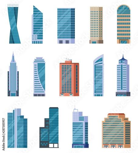 Flat skyscrapers Canvas Print