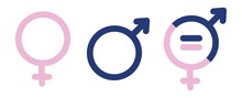 Gender Symbols. Male, Female S...