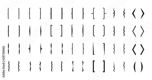 Fotografie, Obraz  Bracket vector icons