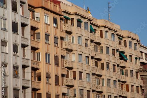 Zaragoza, Aragon, Spain. October 10, 2008: Traditional Arquitecture in Zaragoza Streets