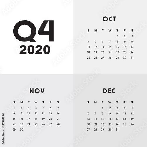 Fotografie, Obraz Fourth quarter of calendar 2020