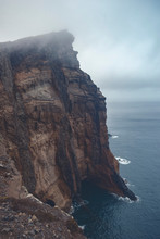 Steep Cliff On Madeira