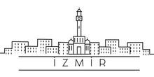 Izmir City Outline Icon. Eleme...
