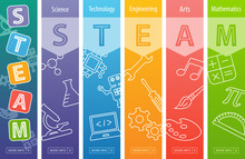 STEAM Education Web Banner. S...