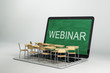 Leinwanddruck Bild - Webinar and online education concept