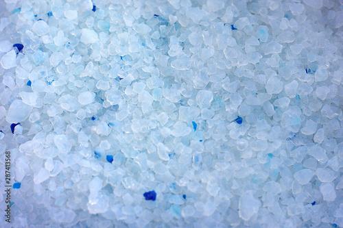 Obraz na plátně Silica gel granules close-up