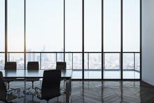 Bright Meeting Room Interior W...