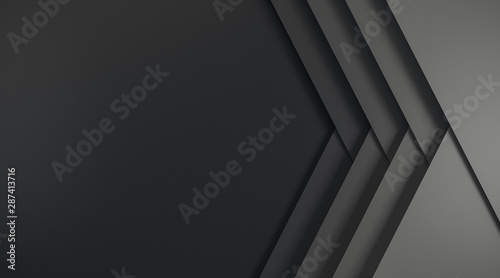 Fototapeta Abstract black web banner obraz