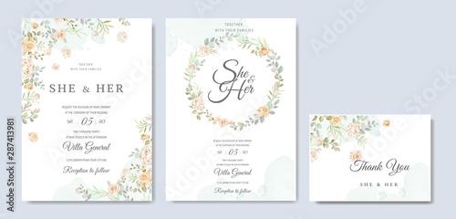Fototapeta Beautiful Wedding Invitation Card Template